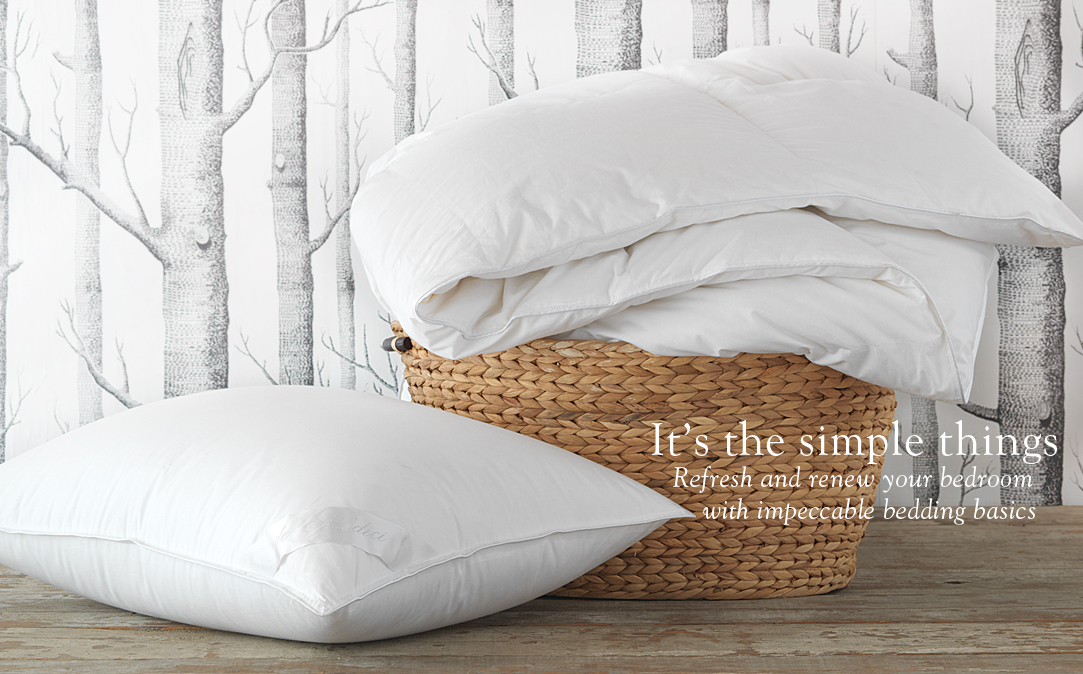 It's the simple things - Refresh and renew your bedroom with impeccable bedding basics