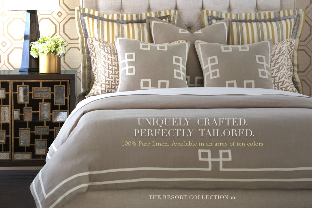 Uniquely crafted. Perfectly tailored. 100% pure linen. Available in an array of ten colors.