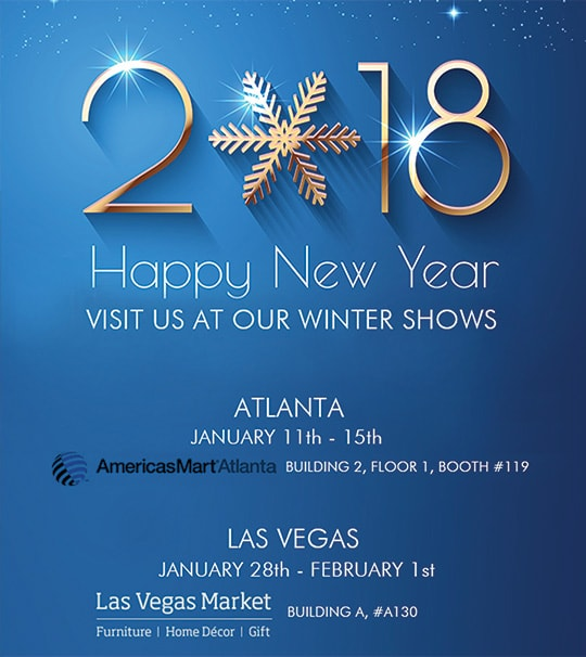 2018 Happy New Year Visit Us at our Winter Shows